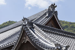 Roof of Japanese Buddhism Temple Stock Photos