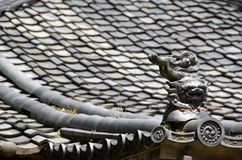 Roof of a japanese temple Stock Images