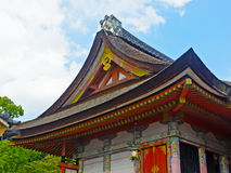Roof of Japanese temple in Kyoto. Stock Image