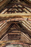 Roof joist. Photograph of roof joists on a medieval building royalty free stock photo