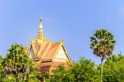 Roof of Khmer Temple in An Giang, Vietnam Stock Image