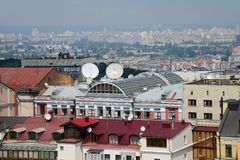 Roof kiev Royalty Free Stock Images