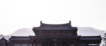Roof of korean style castle. A roof of korean style castle Stock Photo