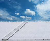 Roof ladder in snow Stock Photos