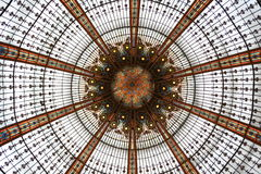 Roof of Lafayette in paris. Stock Photos