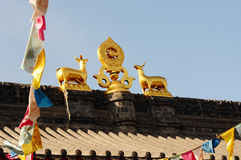 Roof of a lamasery Stock Photography