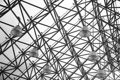 Roof lamp black and white Royalty Free Stock Photography