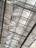 Roof of large modern storehouse Stock Images