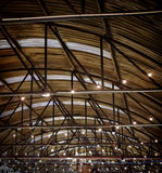 Roof of large modern storehouse Royalty Free Stock Photos