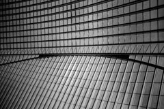 The roof of Liège-Guillemins railway station. Liège-Guillemins railway station is the main station of the city of Liège, the third largest city in Belgium. It Royalty Free Stock Photos