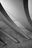 The roof of Liège-Guillemins railway station Stock Images