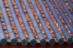 The roof of Lijiang old town Stock Photos