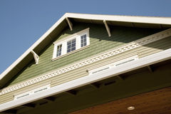Roof Line and Attic of a Home Royalty Free Stock Images