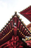 Roof-line of a Buddha temple Stock Images