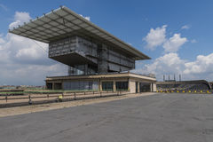 Roof of Lingotto Building with building Renzo Paino Royalty Free Stock Photography