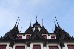 Roof of Lohaprasat in Wat Ratchanatdaram Worawihan Royalty Free Stock Photo