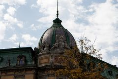 The roof of Lviv. In the historical city centre. Lviv. Ukraine Royalty Free Stock Photos