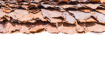 Roof made of dried leaves Royalty Free Stock Image