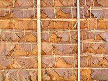 Roof made of leaves Stock Images
