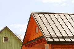 Roof made of metal sheets Royalty Free Stock Photos