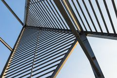 Free Roof Made Of Steel With Column, Lights And Shadows Stock Photography - 111292882