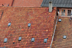 The roof made of red tiles Stock Images