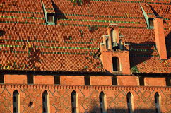 Roof of Malbork knights castle in Poland. Malbork knights castle in Poland (world heritage list Unesco Royalty Free Stock Image