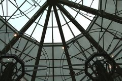 Roof of mall. Modern and luxurious mall interior Royalty Free Stock Images