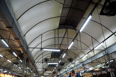 Roof in mall. Roof in night market mall Royalty Free Stock Photo