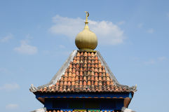 Roof of Masjid Machap Lama (Old Machap Mosque) Royalty Free Stock Images