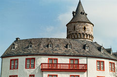 Roof of the medieval castle Oelber in Germany Royalty Free Stock Photos