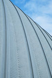Roof of the metal hangar Royalty Free Stock Photo