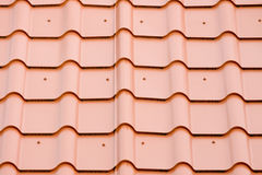 The roof of a metal plate Royalty Free Stock Photo