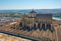 Roof of Mezquita in Cordoba stock photography