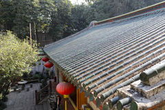 Roof of miaofalinsi temple Stock Photography