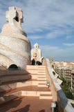 The roof of Mila house in Barcelona Royalty Free Stock Photography