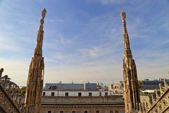 The roof of the Milan Cathedral Duomo di Milano Royalty Free Stock Images