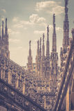 The roof of the Milan Cathedral Royalty Free Stock Photo
