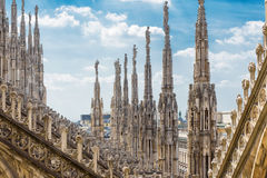 The roof of the Milan Cathedral Stock Image