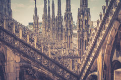 The roof of the Milan Cathedral Stock Photo