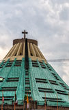 Roof of modern church Basilica de Guadalupe Royalty Free Stock Image