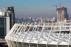 Roof of modern National Olympic Sports Complex Stadium in Kiev, Ukraine Royalty Free Stock Photo