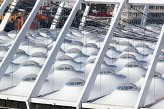 Roof of modern National Olympic Sports Complex Stadium in Kiev, Ukraine Stock Images