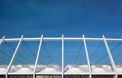 Roof of modern National Olympic Sports Complex Stadium in Kiev, Ukraine Royalty Free Stock Photos