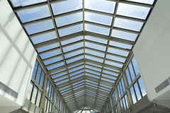 Roof of modern shopping mall. Royalty Free Stock Image