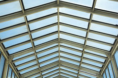 Roof of modern shopping mall. Stock Photos