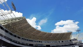 Roof of a modern stadium stock photography