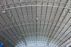 Roof of modern storehouse Royalty Free Stock Images