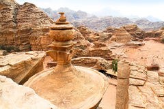 Roof of the Monastery in Petra.Jordan Stock Photography