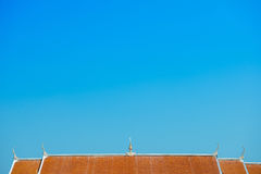 Roof of monastory with blue sky Stock Photos